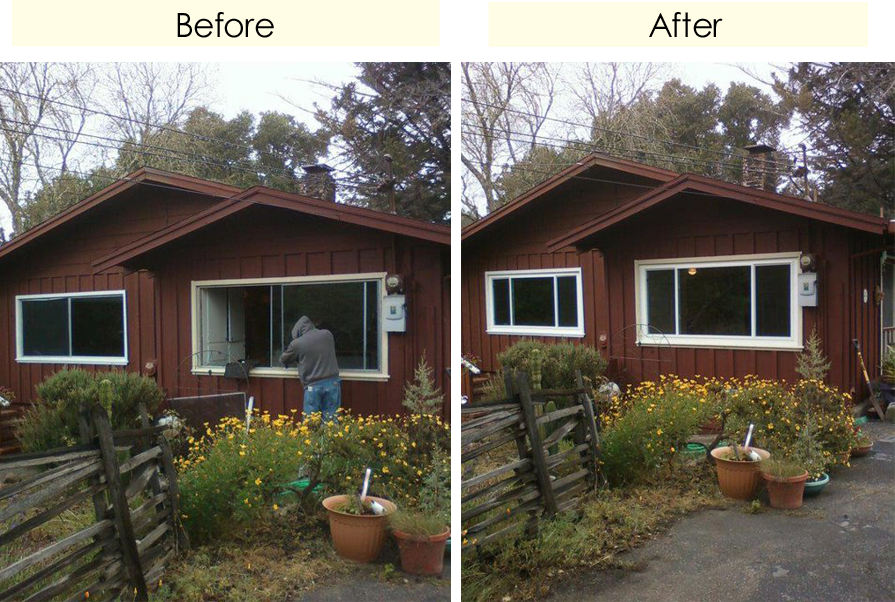 Before And After Window Replacement In Santa Cruz